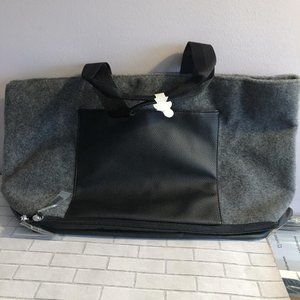 Gray Felt Tote New with Tags
